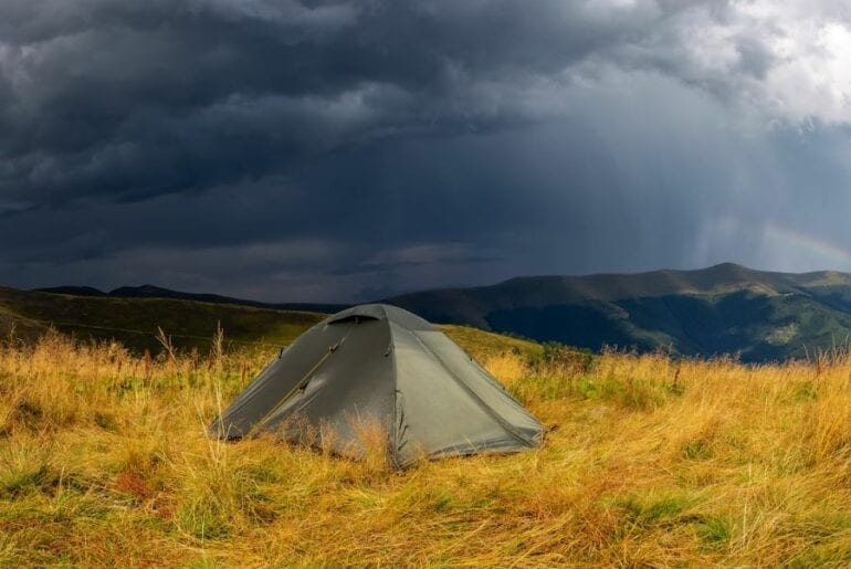 Storm Clouds over Tent