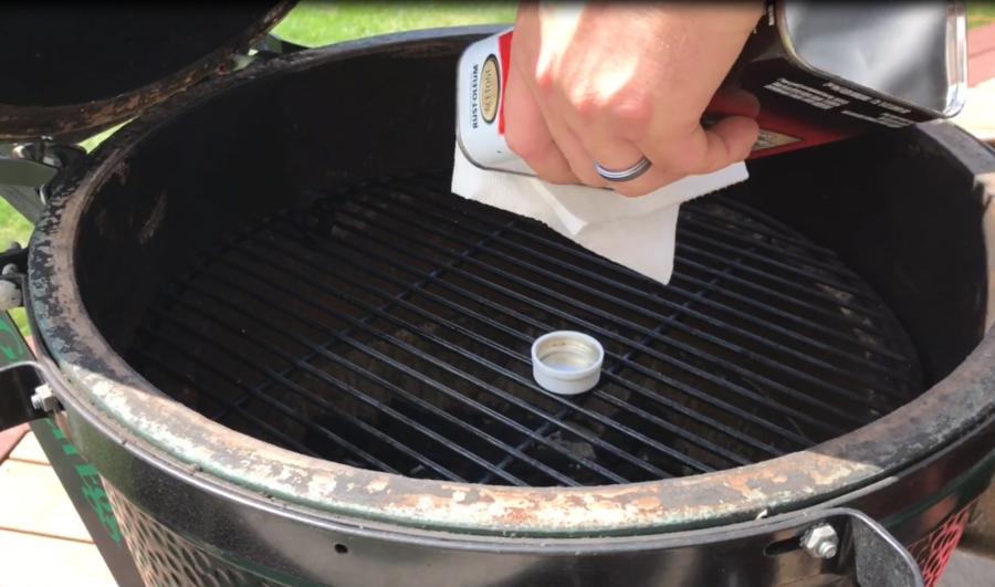 Applying Acetone for Rutland Big Green Egg Gasket