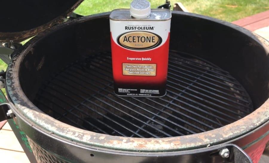 Acetone Prepping for Rutland Big Green Egg Gasket