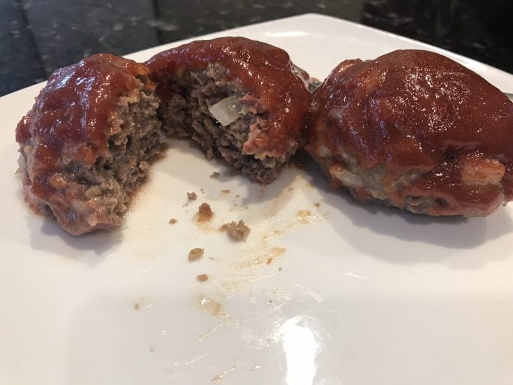 Smoked Mini Cheddar Meatloaves