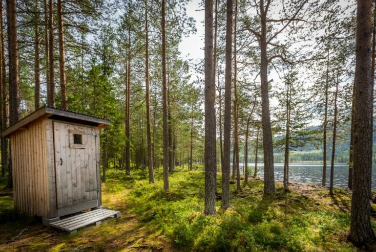 Outhouse in Woods