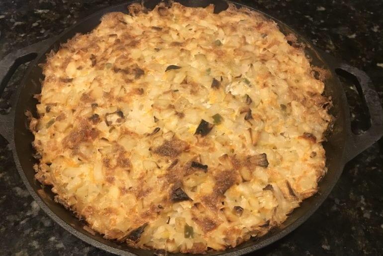 Smoked Au Gratin Potatoes on The Big Green Egg or Kamado Joe