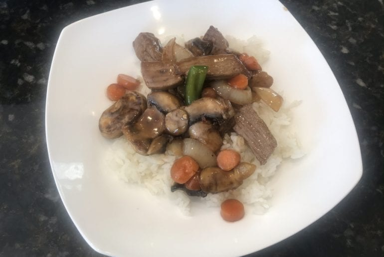 Teriyaki Beef Stir Fry - Plated