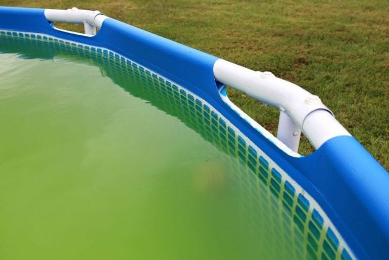 Green Above Ground Pool