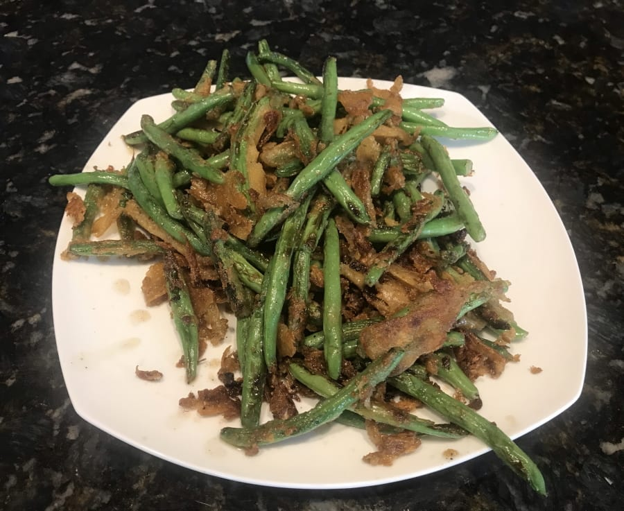 Spicy Breaded Fried Green Beans on the Blackstone Griddle