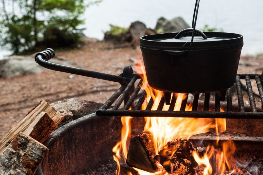 Soup Over Campfire