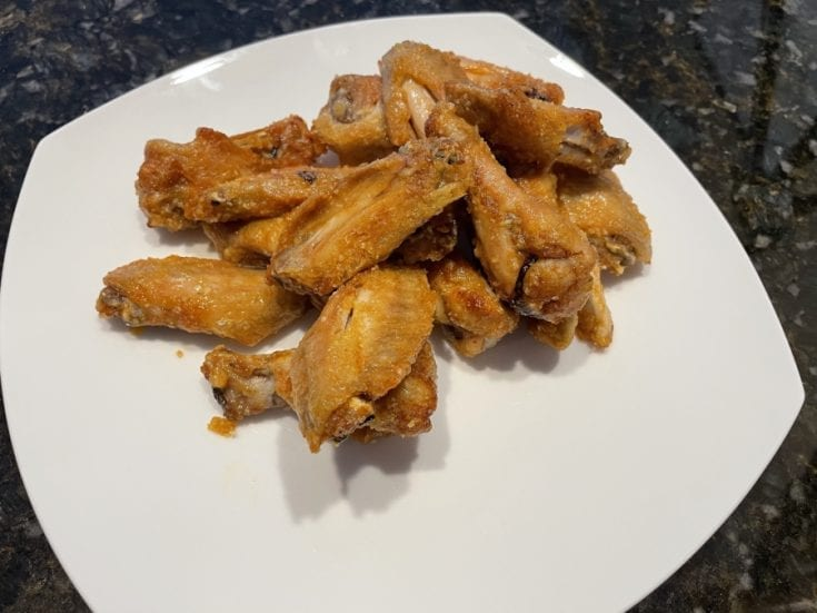 Own - Buttery Garlic Parmesan Air Fried Wings - Plated