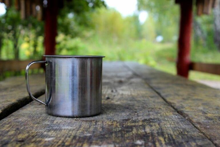 Water Mug While Camping
