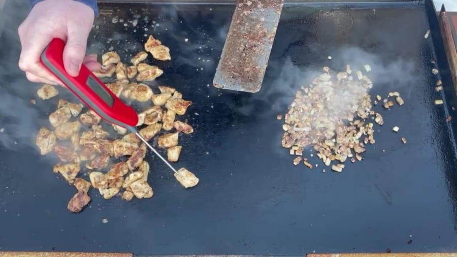 Own - Bourbon Chicken on the Blackstone Griddle - Temp the Chicken