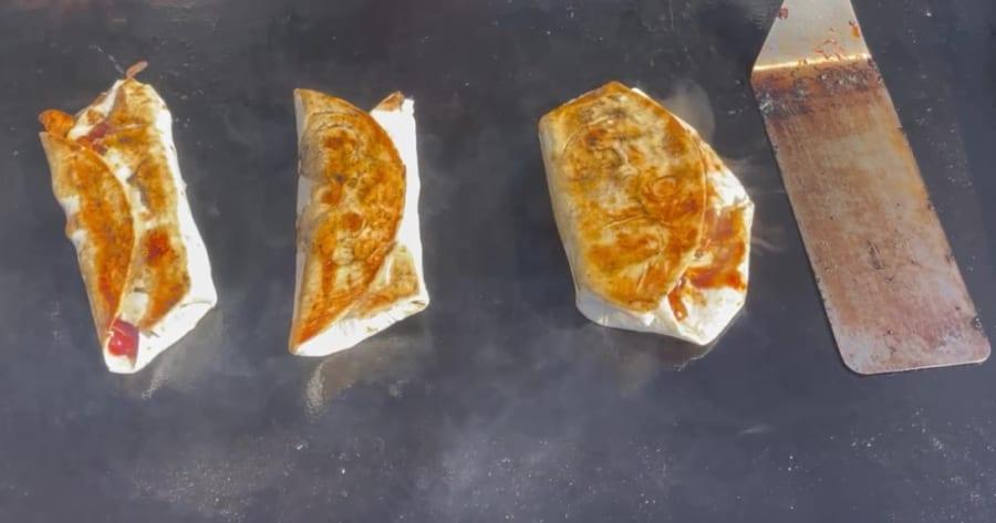Own - Zesty Honey BBQ Chicken Wrap on the Blackstone Griddle - Flip BBQ Chicken Wrap