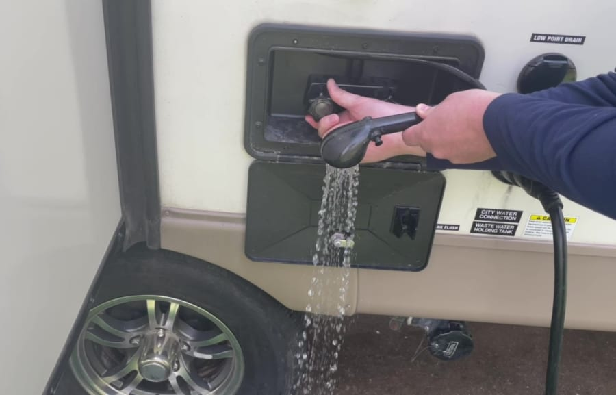 Own - How to Dewinterize Forest River Shamrock Roo Travel Trailers - Run Outdoor Shower Hot Clear