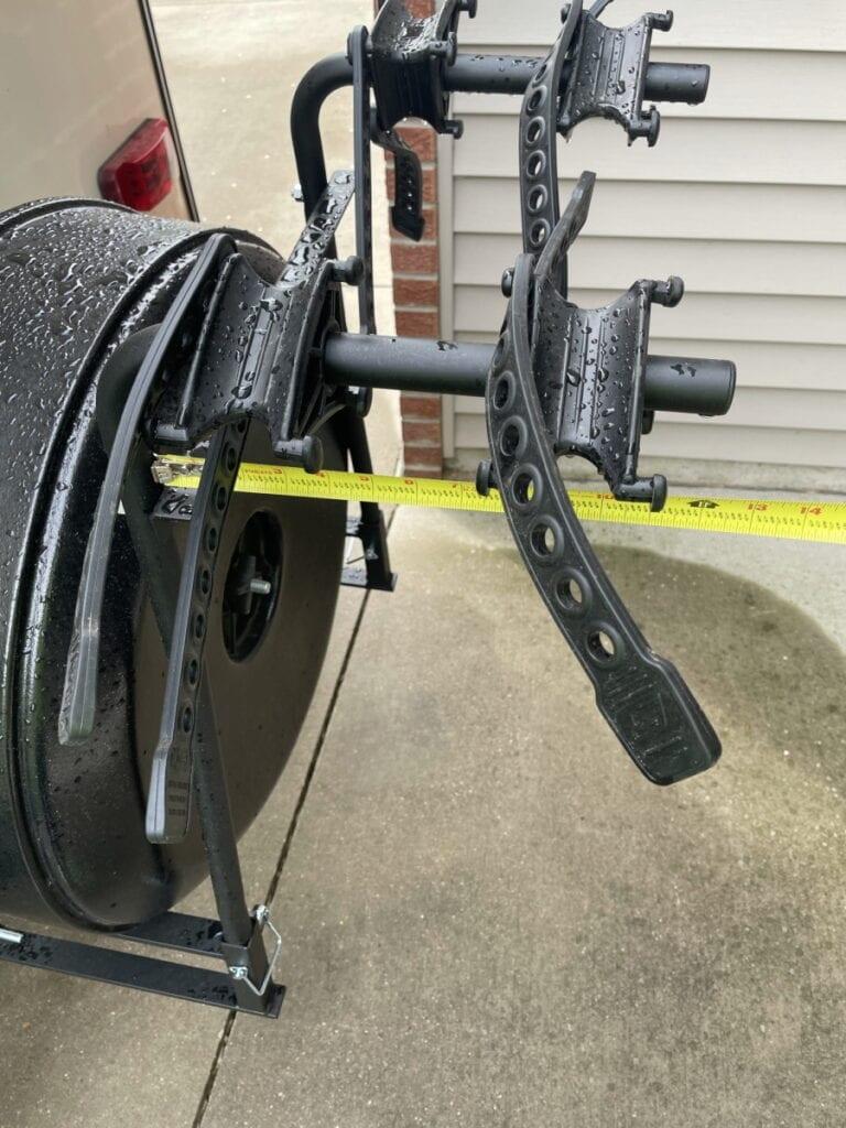 Own - Swagman Around the Spare Tire Bike Rack - Depth of Bike Bars