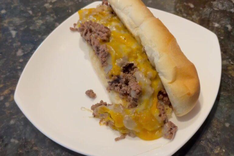 OWN - Chopped Cheeseburgers on a Hoagie Bun - Plated 2