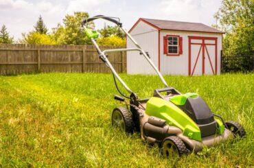 Lawn Mower Sitting in Yard