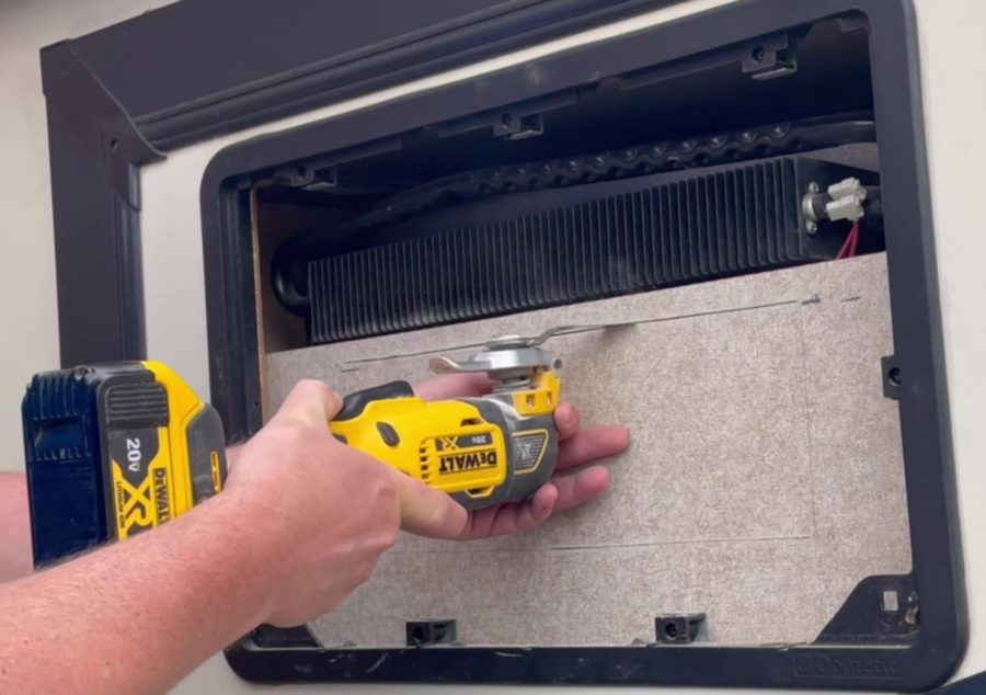 Travel Trailer RV Camper Fridge Does Not Cool on Hot Days - Cut the Hole