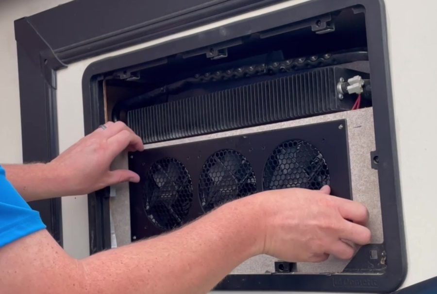 Travel Trailer RV Camper Fridge Does Not Cool on Hot Days - Install Lower Fans