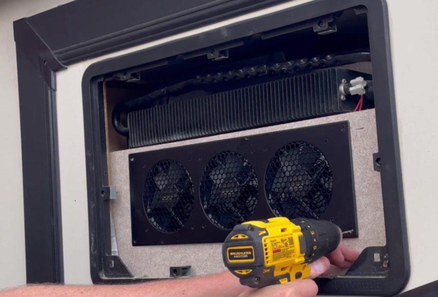 Travel Trailer RV Camper Fridge Does Not Cool on Hot Days - Screw in Lower Fan