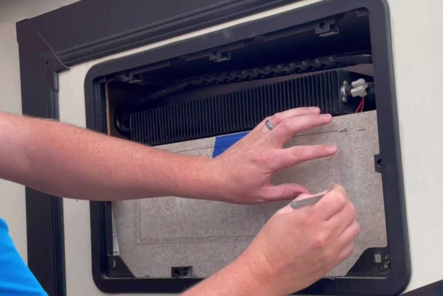 Travel Trailer RV Camper Fridge Does Not Cool on Hot Days - Trace the Stencile